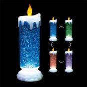 LED Kerze mit glitzernder Fluessigkeit