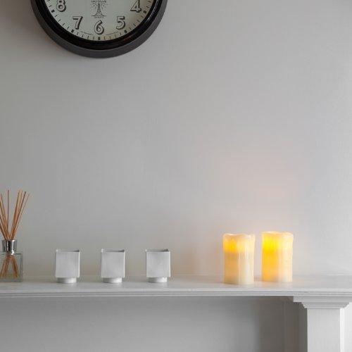 2er set led kerzen echtwachs mit timer. Black Bedroom Furniture Sets. Home Design Ideas