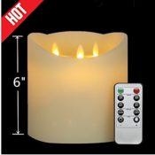 3 Dochte LED Kerzen mit Fernbedienung