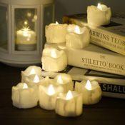 LED Kerzen mit Timerfunktion, 12er-Pack