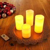 Set LED Kerzen Echtwachs